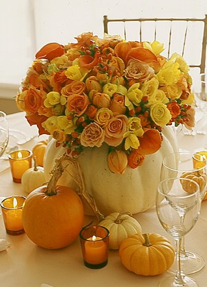 beautifulflowersinwhitepumpkin