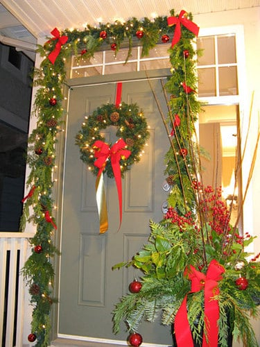 Evergreen Front Door