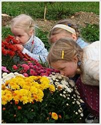Kids love flowers
