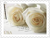 U.S. Postal Service introduces a new Wedding Roses stamp