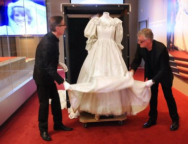 The most famous wedding dress IN THE WORLD visits NYC