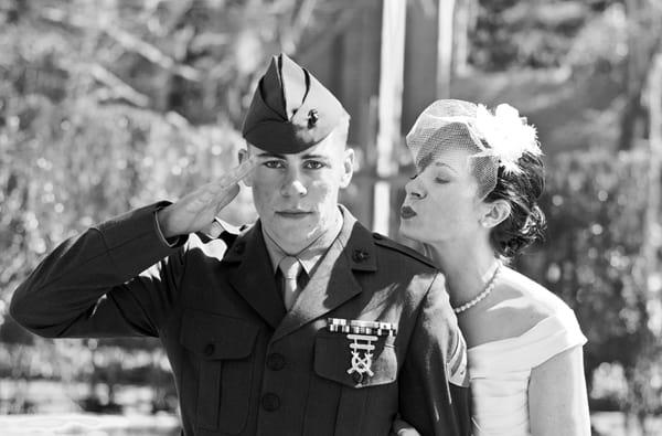 "Semper Fi! ""Always Faithful"" Military Wedding Arrangements"