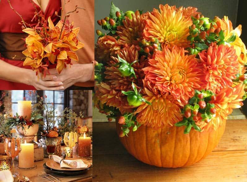 Fall Flower Arrangements For Your DIY Wedding Budget Friendly