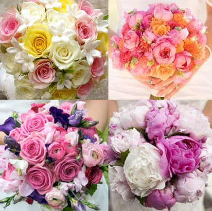 If your a colorful bride Pink Flower Color Combinations