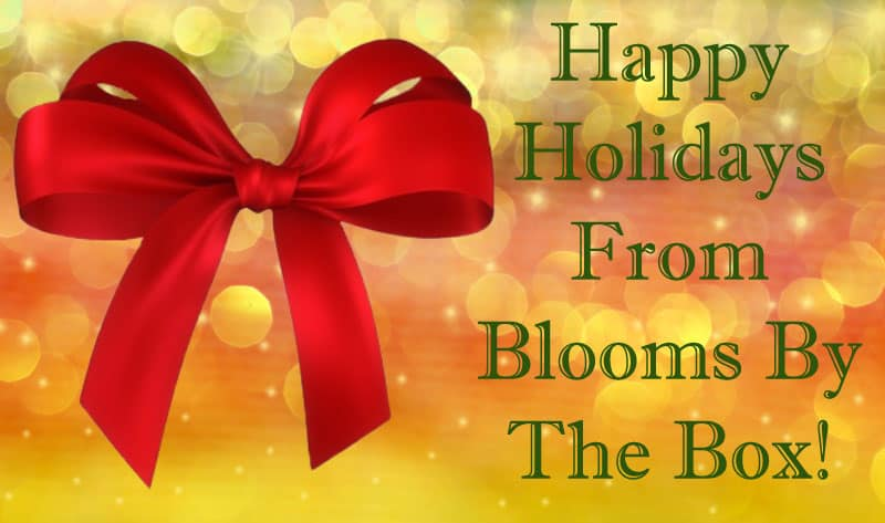 Happy Holidays From Blooms By The Box!