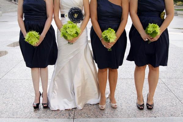 Easy DIY Green Wedding Bouquets