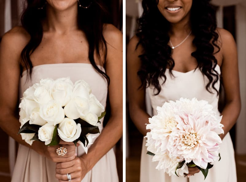 Like different bouquet styles make each bridesmaids for A lot of different flowers make a bouquet