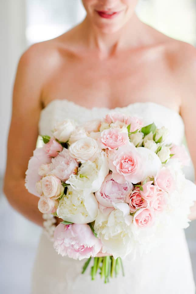 Wedding Bouquets That Are Not Flowers : Pink and white peony bouquet wholesale wedding flowers