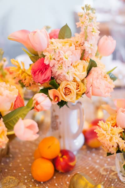 Peach, Pink, and Orange Wedding Flowers! Do- It-Yourself Floral Inspiration!