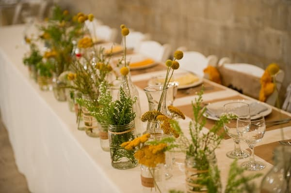 Afforable Rustic Fall Wedding Flowers