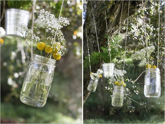 fall rustic hanging mason jars wholesale wedding flowers blog adore diy hanging mason