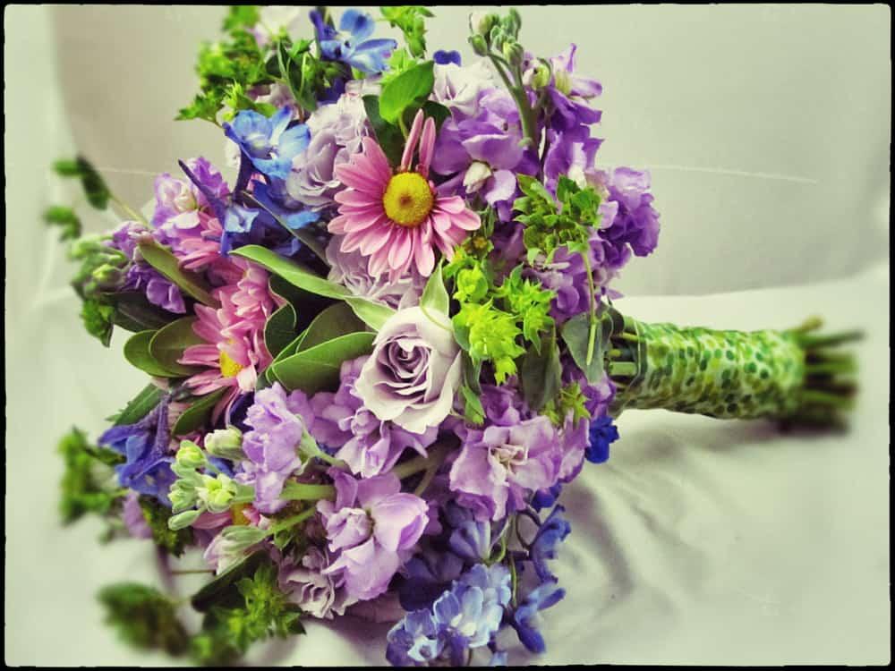 Happy Birthday Flowers Bouquet Vintage