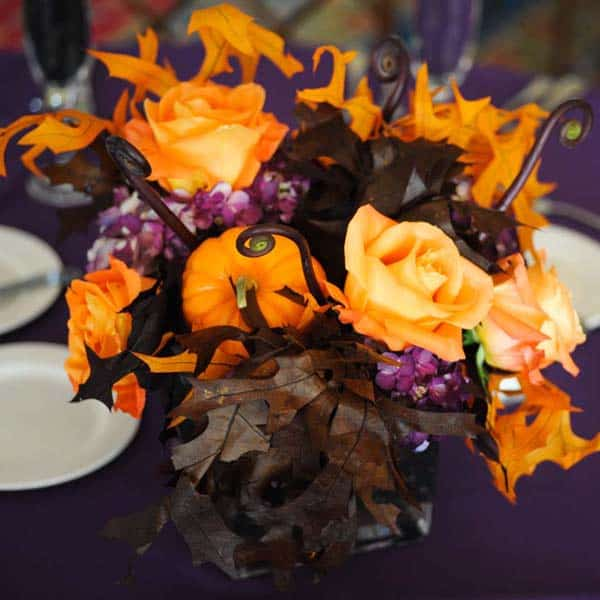 Fall Themed Wedding Ideas: How To Make Halloween Themed Wedding Or Event Flowers That