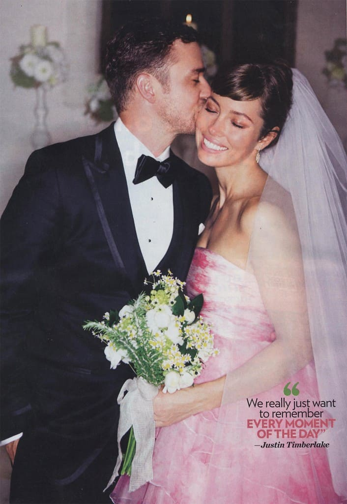 Jessica Biel and Justin Timberlake Wedding Bouquet