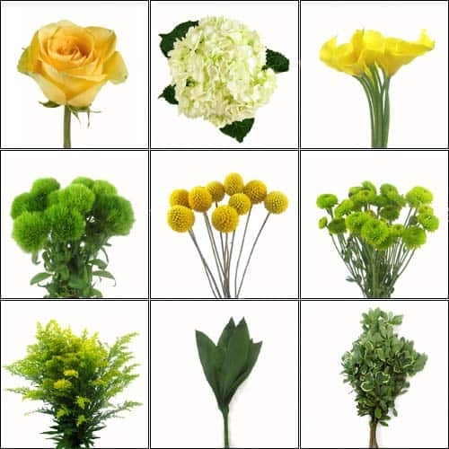 Yellow Wholesale Wedding Flower Pack