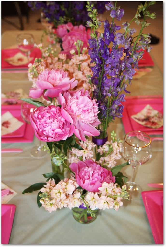 How to make peony centerpieces for a diy wedding shower
