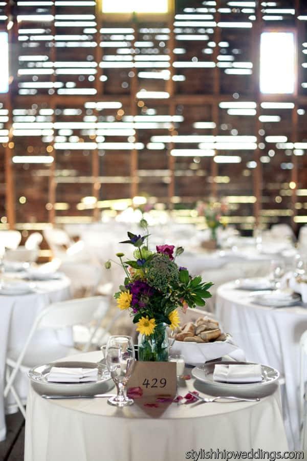 Barn wedding centerpeice ideas
