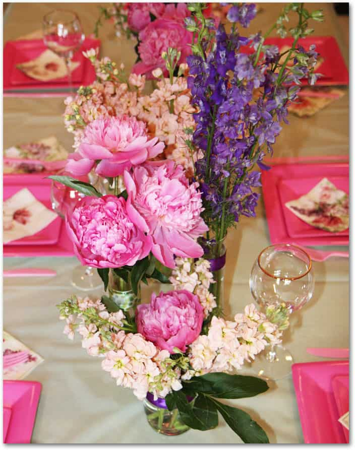 Bridal Flower Making Images : How to make peony centerpieces for a diy wedding shower