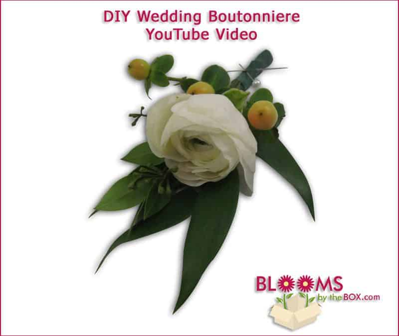 Make a Romantic Ranunculus Wedding Boutonniere: DIY Wedding Flowers