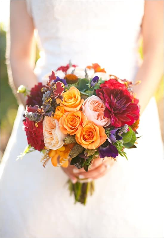 Pantone Color Report 2013 wedding bouqet
