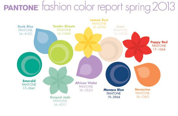 2013 Spring Colors