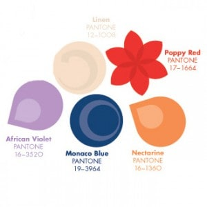 Pantone Color Palette for wedding Flowers