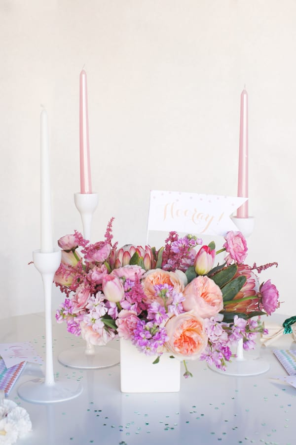 Easter Post - Pink Easter Centerpiece