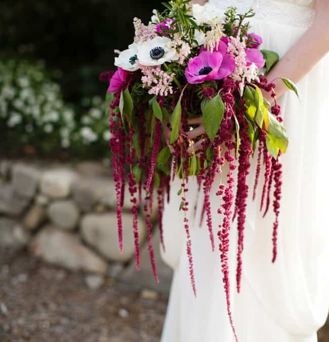Using Hanging Amaranthus in DIY Cascading Bouquets!