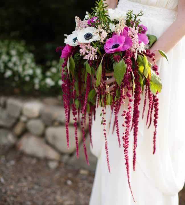 DIY Vintage Flowers - Make a Cascading Amaranthus Bouquet