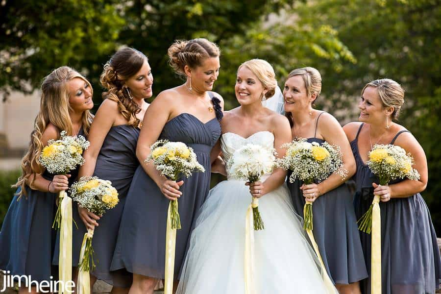 Yellow & Gray Budget Wedding Flowers in Pennsylvania