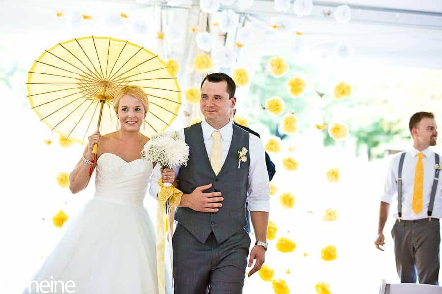 Yellow, Gray, and White Wedding