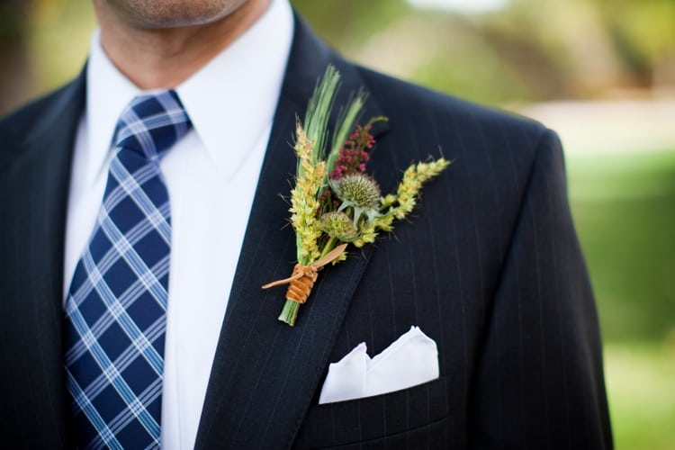 Fall Wildflower boutonniere