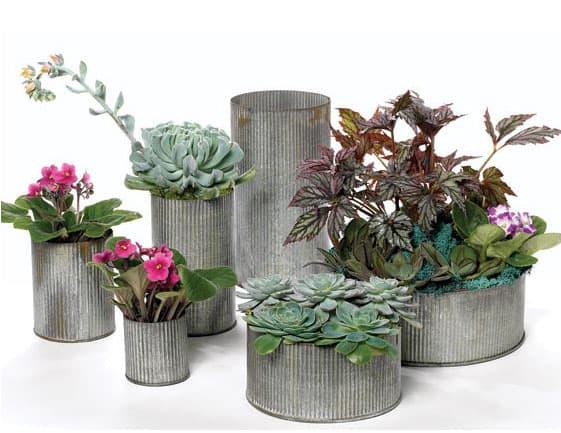 Zinc Vases