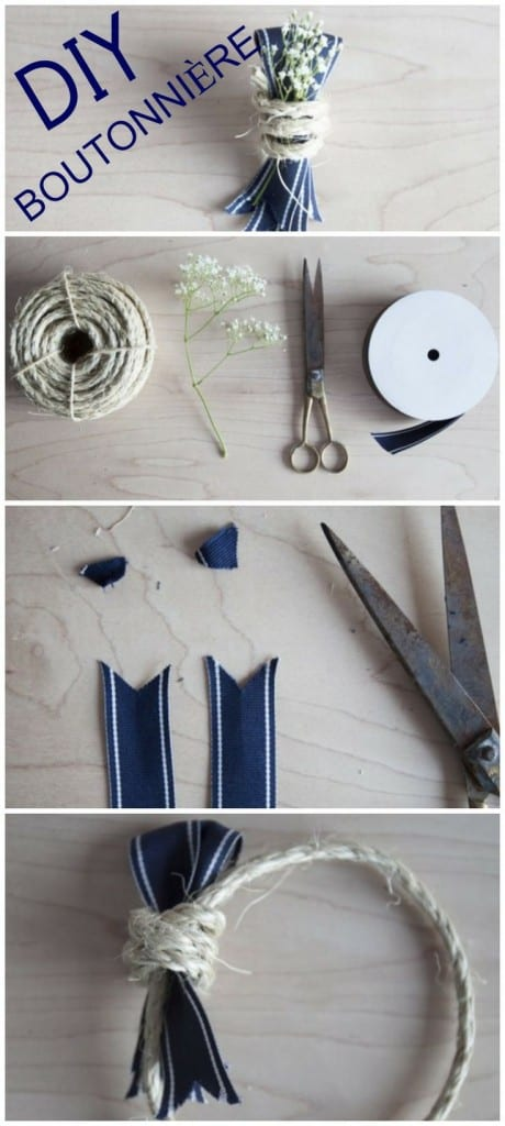 DIY boutonniere - flower tutorials