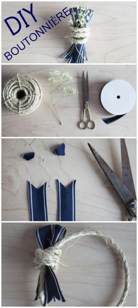 DIY boutonniere - flower tutorials