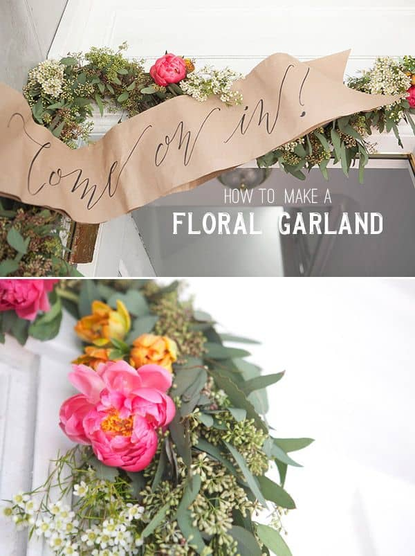 How to Make Floral Garland - Flower Tutorial