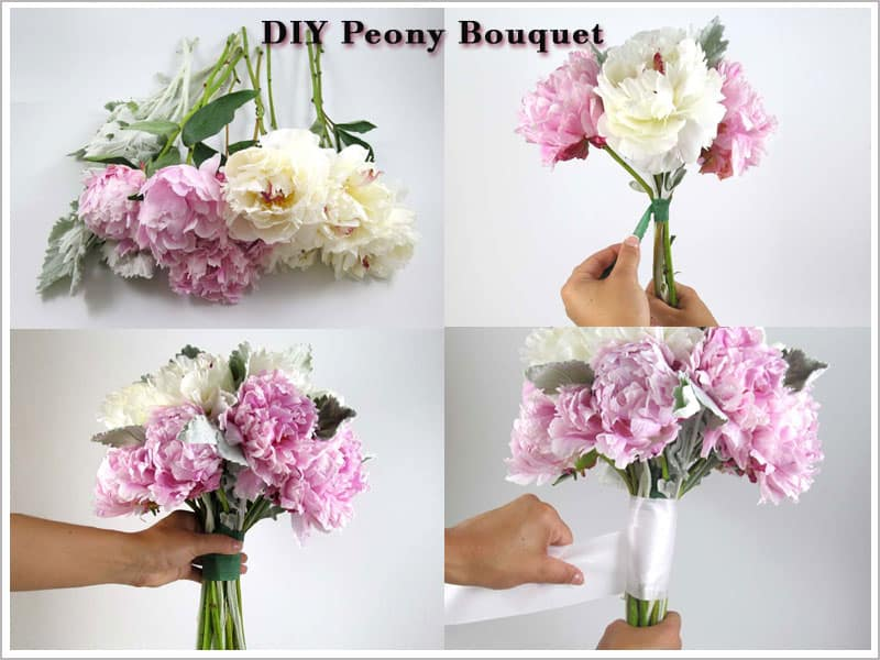 Peony Bouquet - flower tutorials