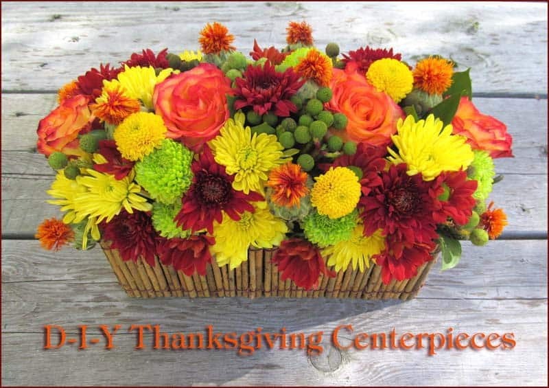 Do it yourself thanksgiving flowers holiday home decor thanksgiving diy centerpieces solutioingenieria Gallery