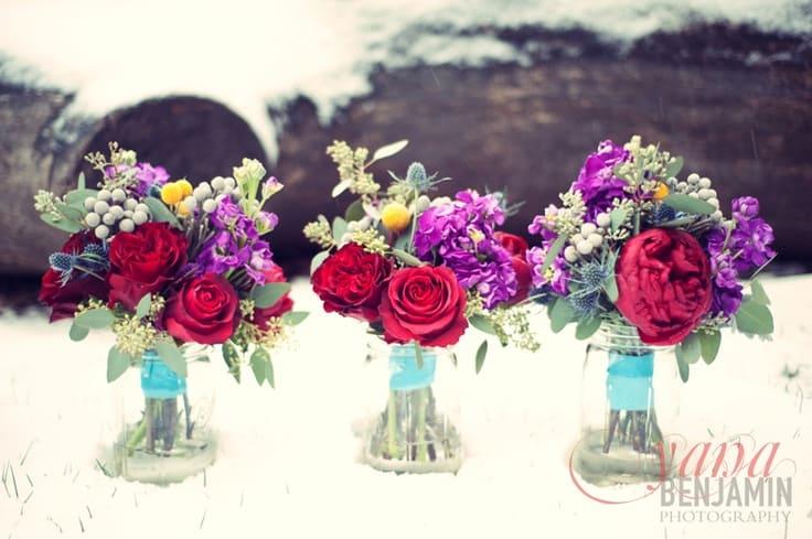 Winter bouquets - bright