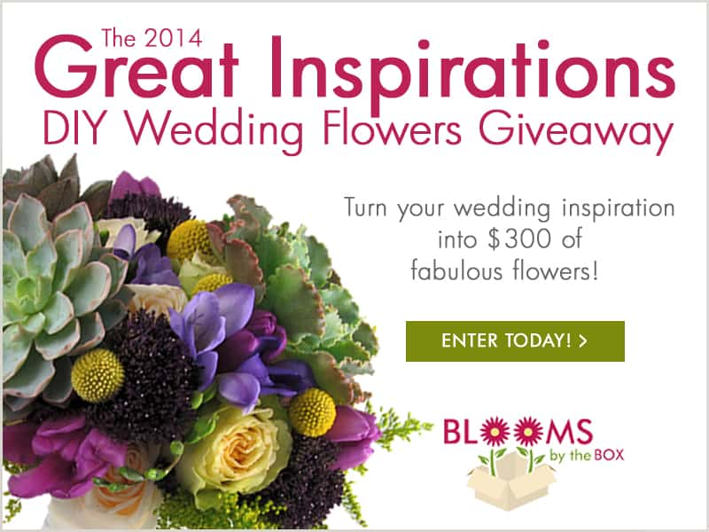 2014 Great Inspiration DIY Wedding Flowers Giveaway!