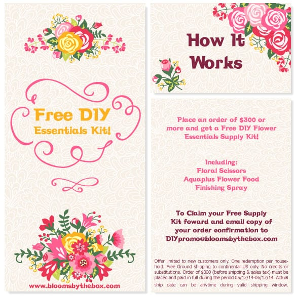 Get Free DIY Flower Supplies with Wholesale Flowers!