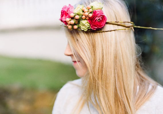 DIY Flower Crown From 100 Layer Cake