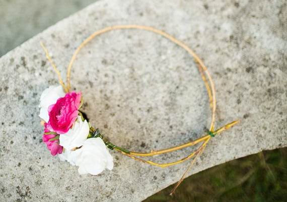 DIY ranuculus flower crown
