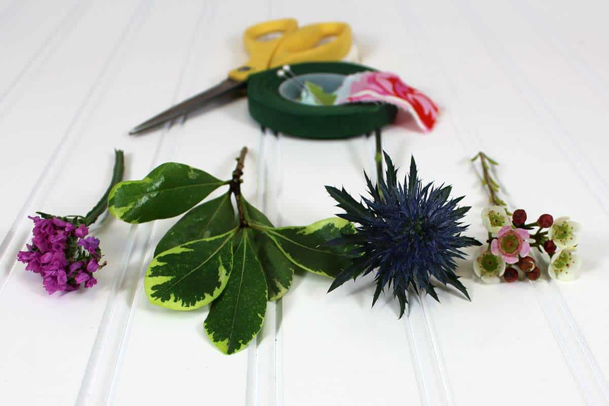 Supplies For Boutonniere Tutorial