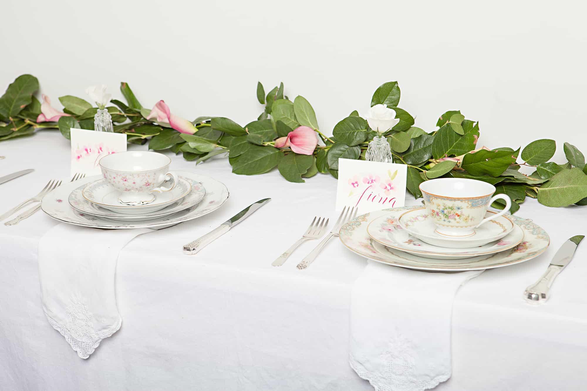Bridal Shower flower garland