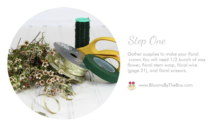 Step-One---How to Make a Floral Crown