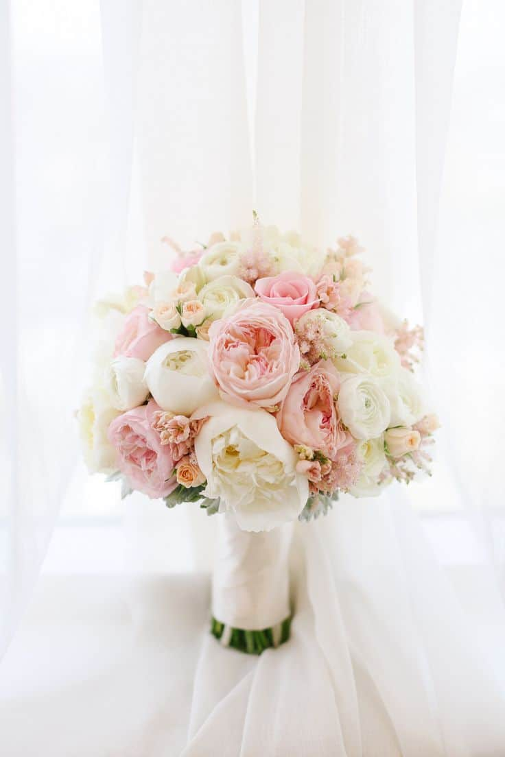 Fluffly Romantic Wedding Bouquet