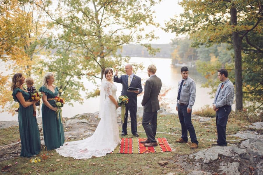 Real Wedding: DIY Rustic Outdoor Wedding