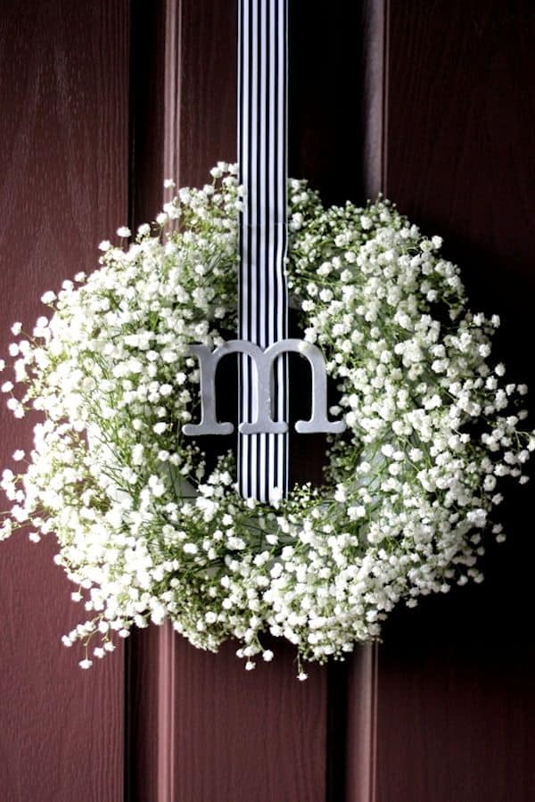 ways to use babys breath wreath2