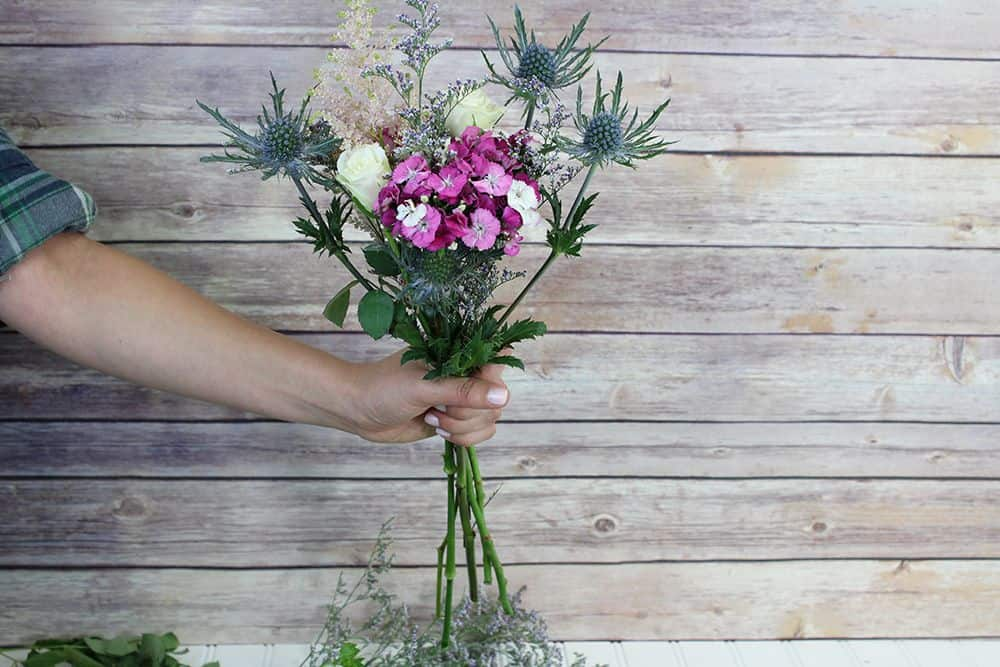 how to make a wildflower bouquet - first bunch 1000